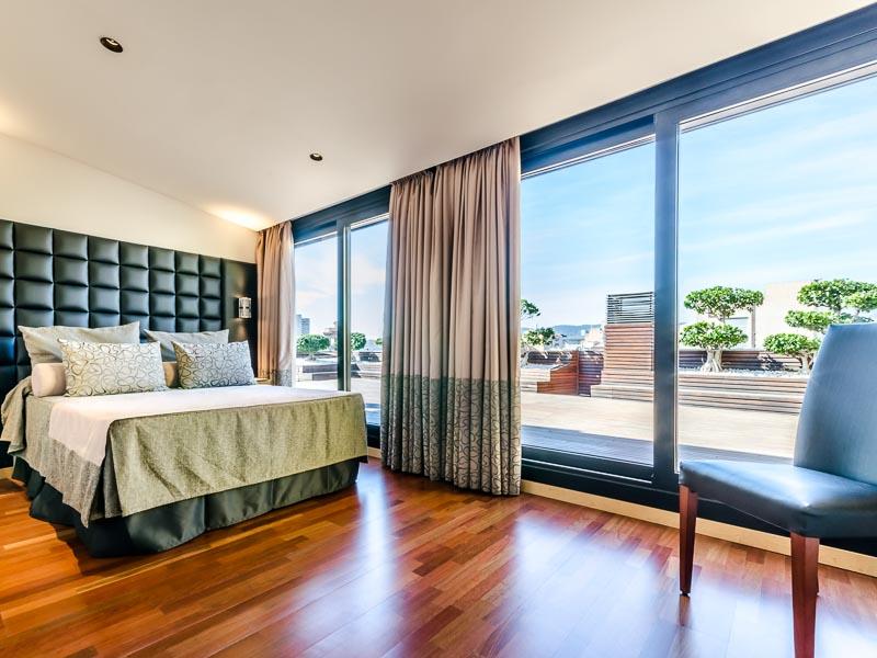 Habitación Doble con Terraza del hotel Sansi Diputació
