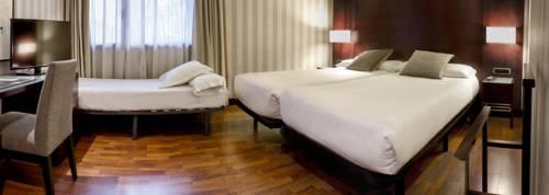 Habitación doble dos camas separadas del hotel Zenit Barcelona