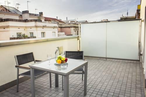 Habitación doble Terraza Superior del hotel Zenit Barcelona. Foto 2