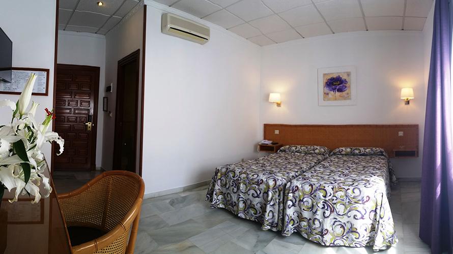 Habitación doble dos camas separadas del hotel Las Rampas