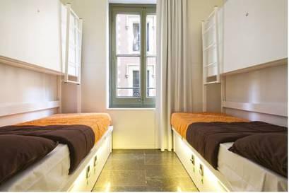 Habitación doble dos camas separadas del hotel Urbany Bcngo