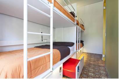 Habitación mixta desde 4 camas a 8 camas del hotel Urbany Bcngo