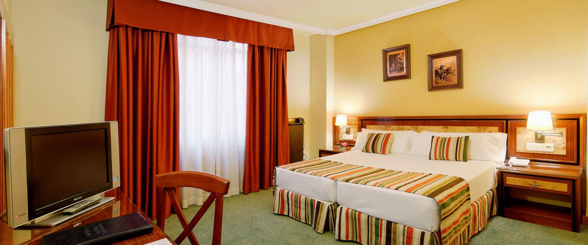 Habitación doble dos camas separadas del hotel Mayorazgo