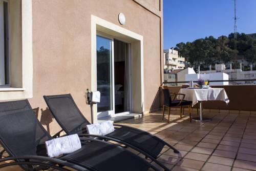 Habitación doble Terraza del hotel Zenit Malaga