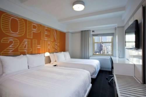 Habitación doble Lujo 2 Camas de Matrimonio Vista ciudad del hotel Row NYC