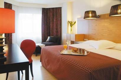 Habitación doble  del hotel Hesperia Sevilla