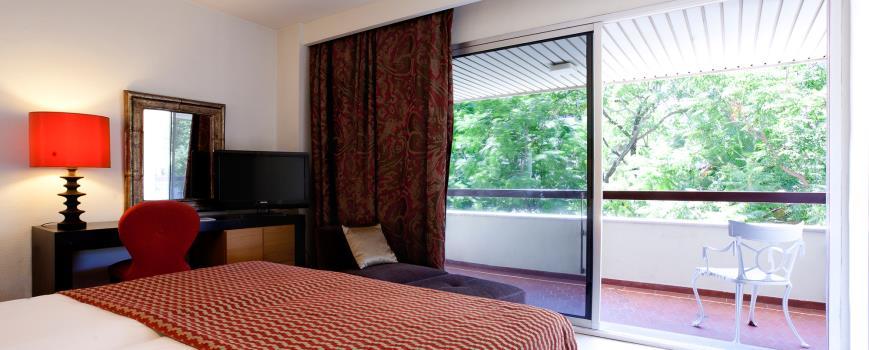 Habitación individual  del hotel Hesperia Sevilla