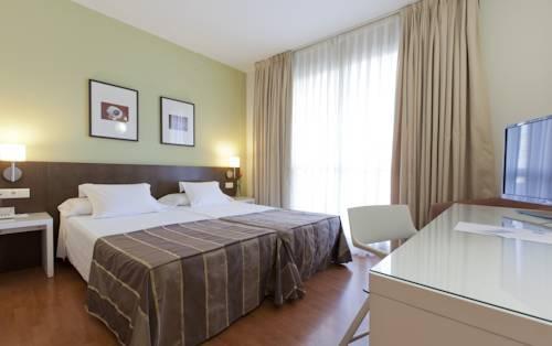 Habitación doble dos camas separadas del hotel Vertice Sevilla