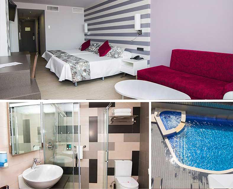 Habitación individual  del hotel RH VINAROS AURA
