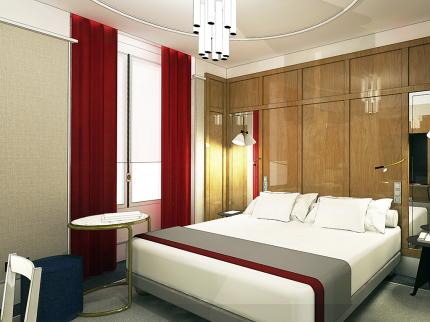 Habitación doble  del hotel L'echiquier Opéra Paris Mgallery Collection