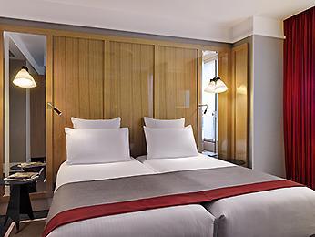 Habitación doble dos camas separadas del hotel L'echiquier Opéra Paris Mgallery Collection