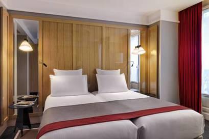 Habitación doble Superior dos camas separadas del hotel L'echiquier Opéra Paris Mgallery Collection