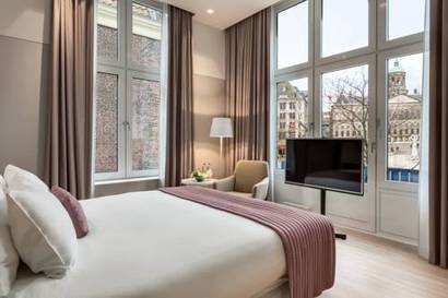 Habitación doble Vista ciudad Premium del hotel NH Amsterdam Grand Hotel Krasnapolsky