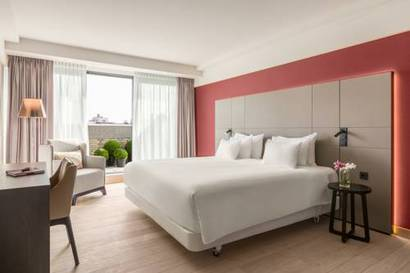 Habitación doble Terraza Premium del hotel NH Amsterdam Grand Hotel Krasnapolsky