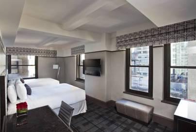 Habitación doble dos camas separadas Premier Esquinera del hotel Park Central New York