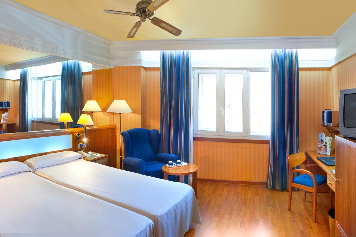Habitación doble Superior dos camas separadas del hotel Senator Gran Via 70