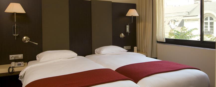 Habitación doble dos camas separadas del hotel NH Brussels Louise
