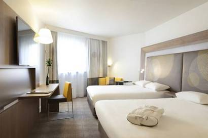 Habitación doble Ejecutiva dos camas separadas del hotel Novotel Les Halles