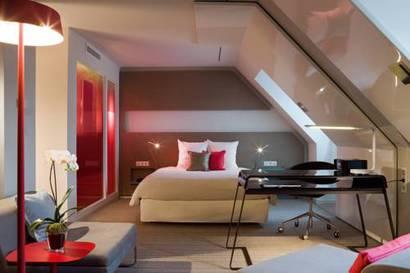 Junior suite  del hotel Novotel Les Halles