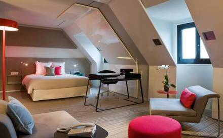 Junior suite  del hotel Novotel Les Halles. Foto 1