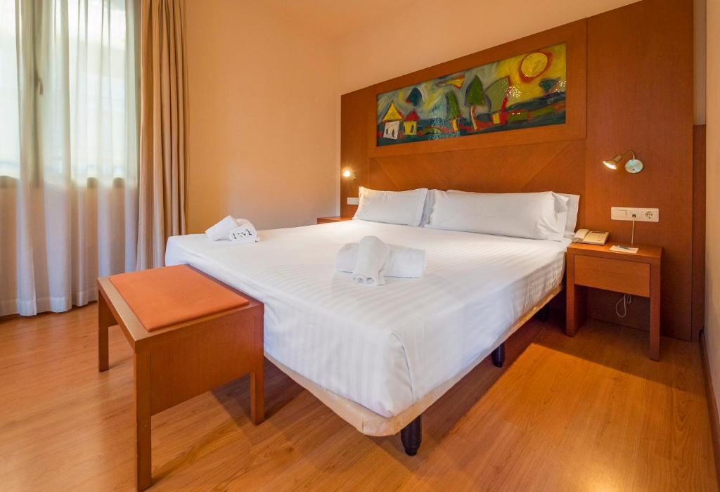 Habitación doble  del hotel Checkin Valencia