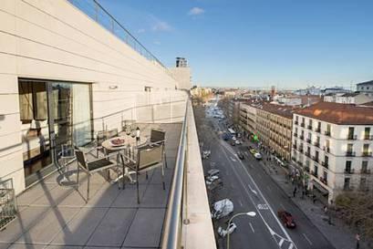 Habitación doble Terraza Superior del hotel Paseo del Arte