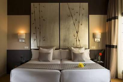 Habitación doble dos camas separadas del hotel Paseo del Arte