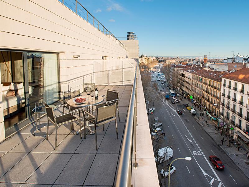 Habitación doble Terraza Superior dos camas separadas del hotel Paseo del Arte
