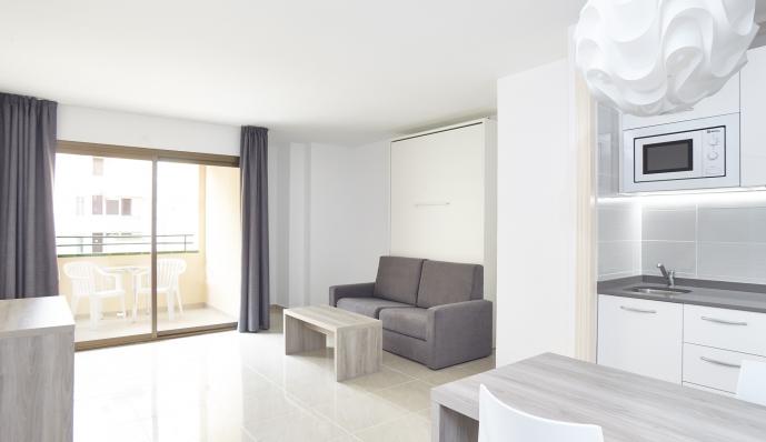 Apto. 2 dormitorios ( 1 dorm doble + 1 dorm individual) del hotel Mar i Vent