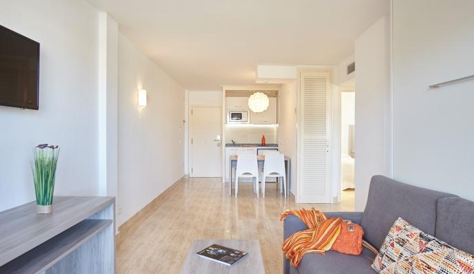 Apto. 2 dormitorios ( 2 dormitorios dobles) del hotel Mar i Vent. Foto 2