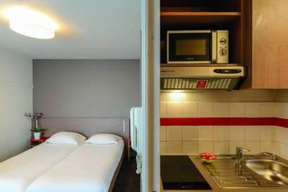 Estudio Superior dos camas separadas del hotel Appart City Paris La Villette