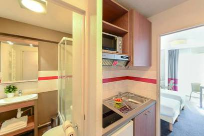 Estudio Superior dos camas separadas del hotel Appart City Paris La Villette. Foto 1