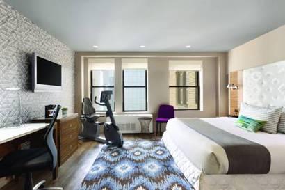 Habitación doble Fitness del hotel The Gallivant Times Square