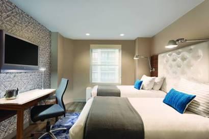 Habitación doble dos camas separadas del hotel The Gallivant Times Square