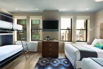 Habitación familiar  del hotel The Gallivant Times Square