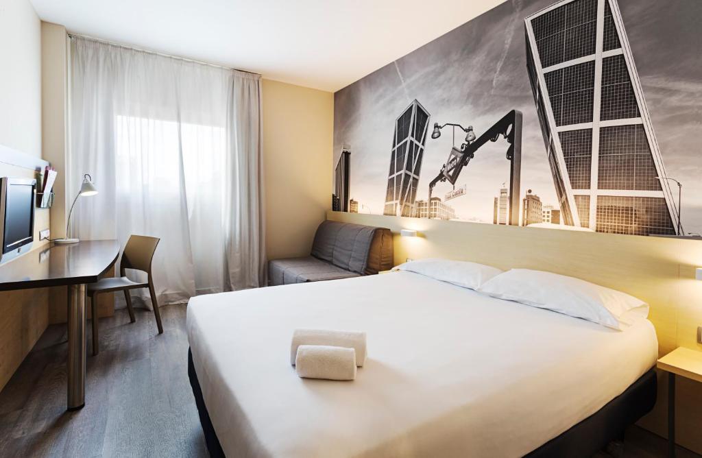 Habitación doble  del hotel B&b Madrid Airport