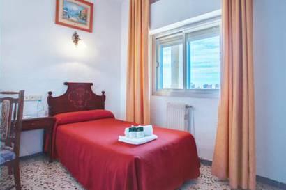 Habitación individual  del hotel Embajador