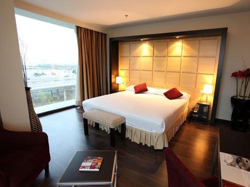 Habitación doble  del hotel Eurostars  Zaragoza