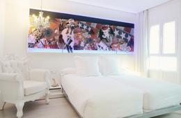 Habitación doble Superior dos camas separadas del hotel Dormirdcine