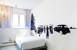 Habitación individual  del hotel Dormirdcine. Foto 1