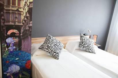 Habitación doble dos camas separadas del hotel Byb Albacete