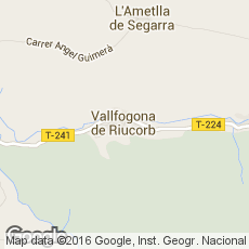 Vallfogona De Riucorb Mapa.Hoteles En Vallfogona De Riucorb